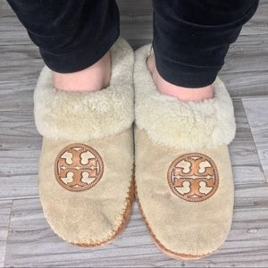 TORY BURCH Coley Shearling Mule Slippers